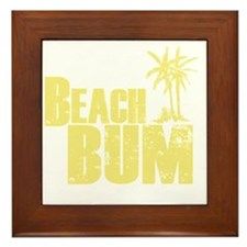 beach bum Framed Tile