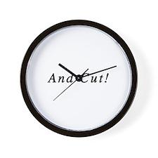 And Cut! Wall Clock
