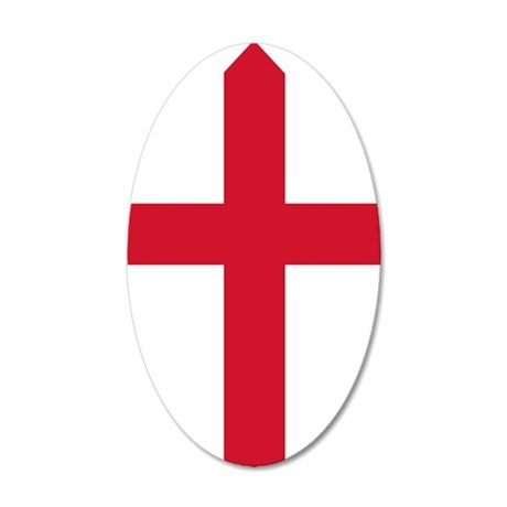 GeorgeCross6 35x21 Oval Wall Decal