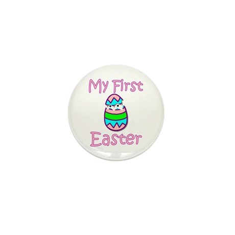Girl First Easter Mini Button