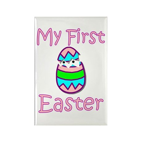 Girl First Easter Rectangle Magnet