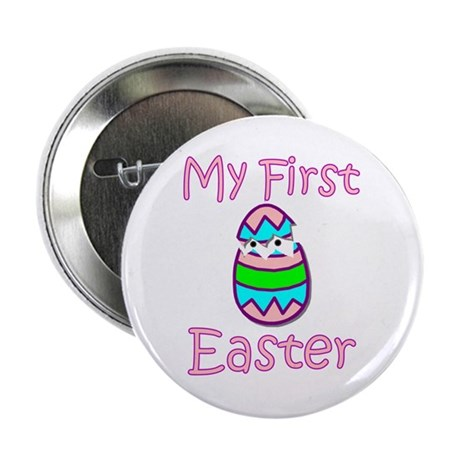 Girl First Easter Button