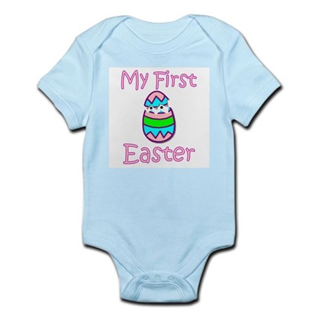 Girl First Easter Infant Bodysuit