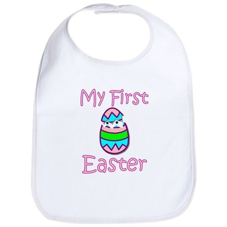 Girl First Easter Bib