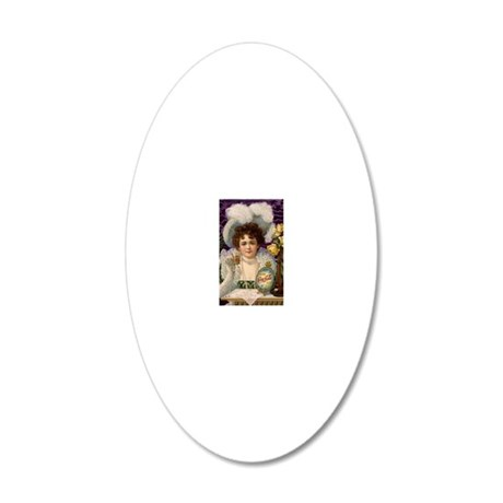 Gibson girl 20x12 Oval Wall Decal