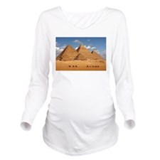 Pyramids of Egypt Long Sleeve Maternity T-Shirt