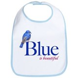blue is beautiful Bib