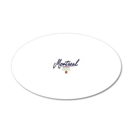 Montreal Script W 20x12 Oval Wall Decal