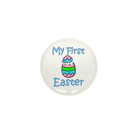 Boy First Easter Mini Button