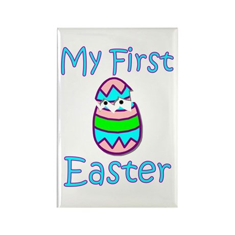 Boy First Easter Rectangle Magnet