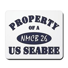 Property of NMCB 26 US Navy Seabee Mousepad