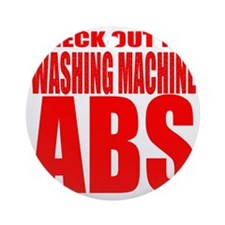 Washing Machine Abs Round Ornament