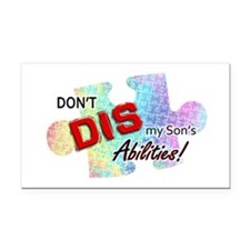 dontdis-son-cropped Rectangle Car Magnet