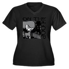 CCR diver fo Women's Plus Size Dark V-Neck T-Shirt
