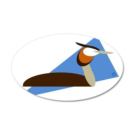 Grebe 35x21 Oval Wall Decal