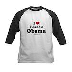 I Love Barack Obama Kids Baseball Jersey