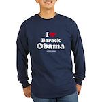 I Love Barack Obama Long Sleeve Dark T-Shirt