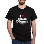I Love Barack Obama Dark T-Shirt