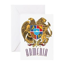 GA_ArmenianCoatofArms10x Greeting Card
