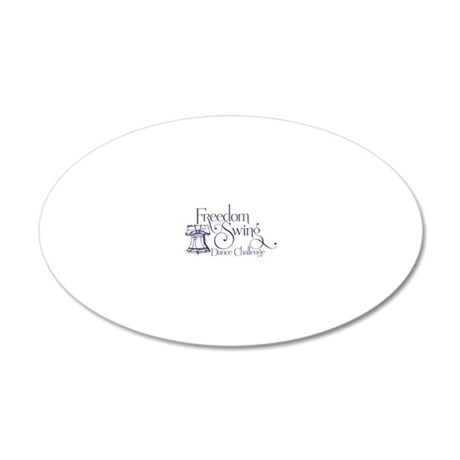 freedom swing 20x12 Oval Wall Decal