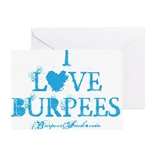 I LOVE BURPEES - BLUE Greeting Card