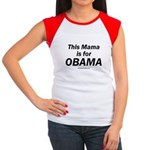 This mama is for Obama Women's Cap Sleeve T-Shirt