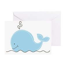 Little Blue Whale Greeting Card