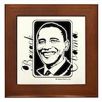 Barack Obama Portrait Framed Tile