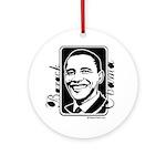 Barack Obama Portrait Ornament (Round)