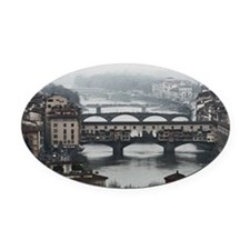 Bridges of Florence Italy Oval Car Magnet