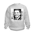 Barack Obama Portrait Kids Sweatshirt