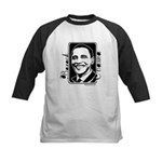Barack Obama Portrait Kids Baseball Jersey