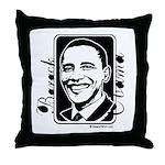 Barack Obama Portrait Throw Pillow
