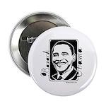 Barack Obama Portrait Button