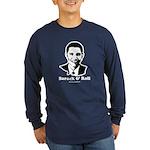 Barack Obama Portrait Long Sleeve Dark T-Shirt