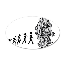 robot EVOLUTION2 35x21 Oval Wall Decal