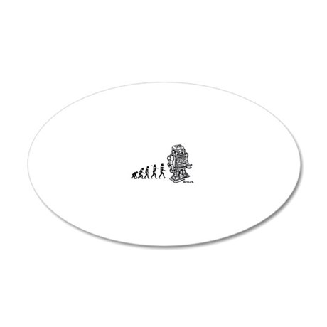 robot EVOLUTION2 20x12 Oval Wall Decal