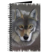Grey Wolf (Chalk Pastel) with frame Journal