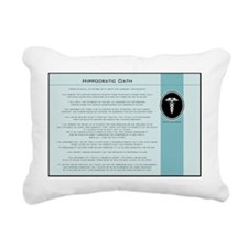hippocraticoathblue Rectangular Canvas Pillow
