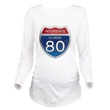 Interstate 80 - Illi Long Sleeve Maternity T-Shirt