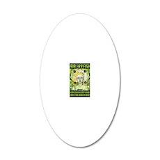 WAR WOMEN GAIA 8.5x11 20x12 Oval Wall Decal