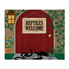 reptileswelcome9 Throw Blanket