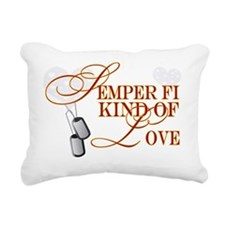 semperfi kind of lovetag Rectangular Canvas Pillow