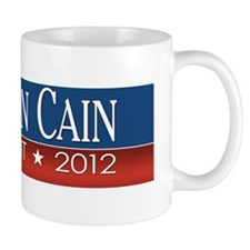 __bumper_herman_cain_red-blue Mug