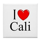 """I Love Cali"" Tile Coaster"