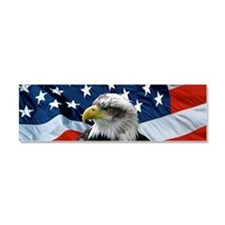 Cute American flag Car Magnet 10 x 3