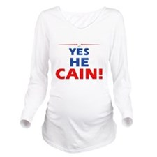 Yes He Cain dark Long Sleeve Maternity T-Shirt