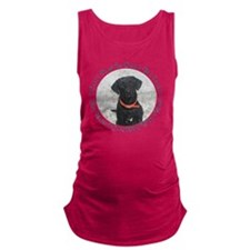 Black Labrador Retriever  Big   Maternity Tank Top