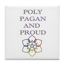Poly Pagan and proud 2 Tile Coaster