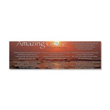 amazingGraceLong Car Magnet 10 x 3